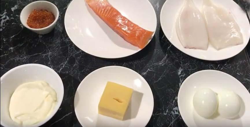 Ингредиенты для салата Сытый Боцман
