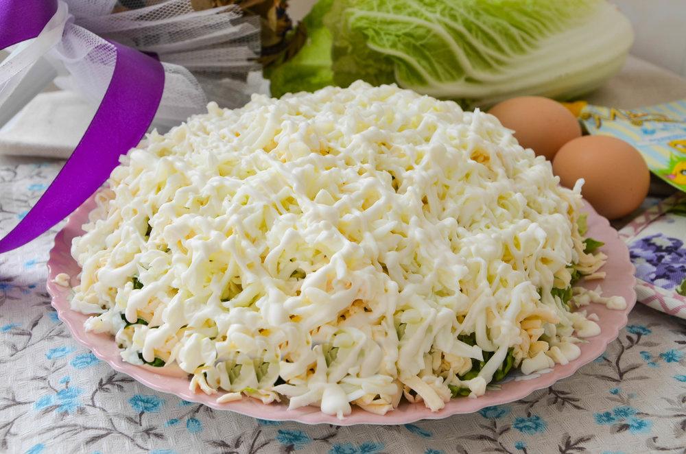 Салат «Невеста» с курицей и пекинской капустой