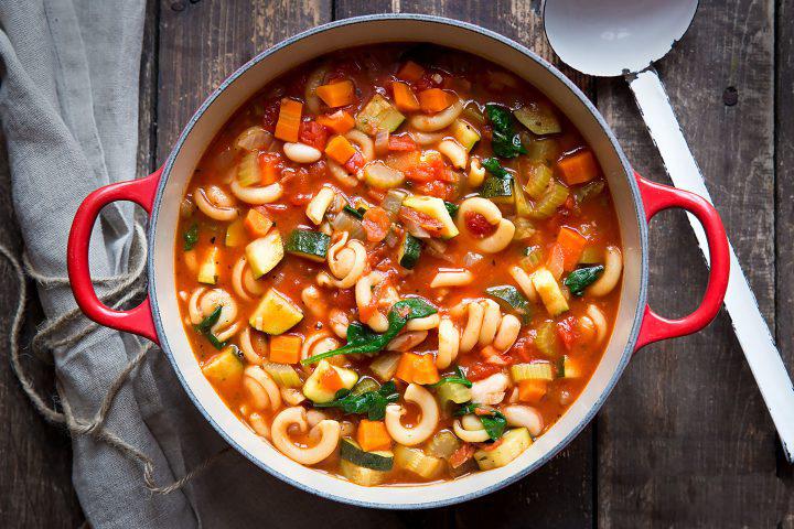 Суп минестроне на бульоне