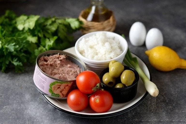 Какие продукты нужны для салата из тунца