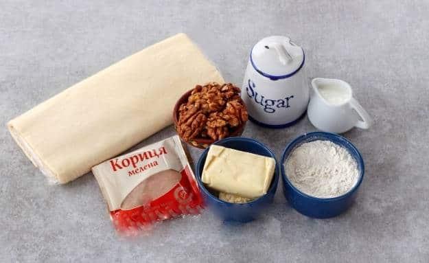 Продукты, необходимые для выпечки