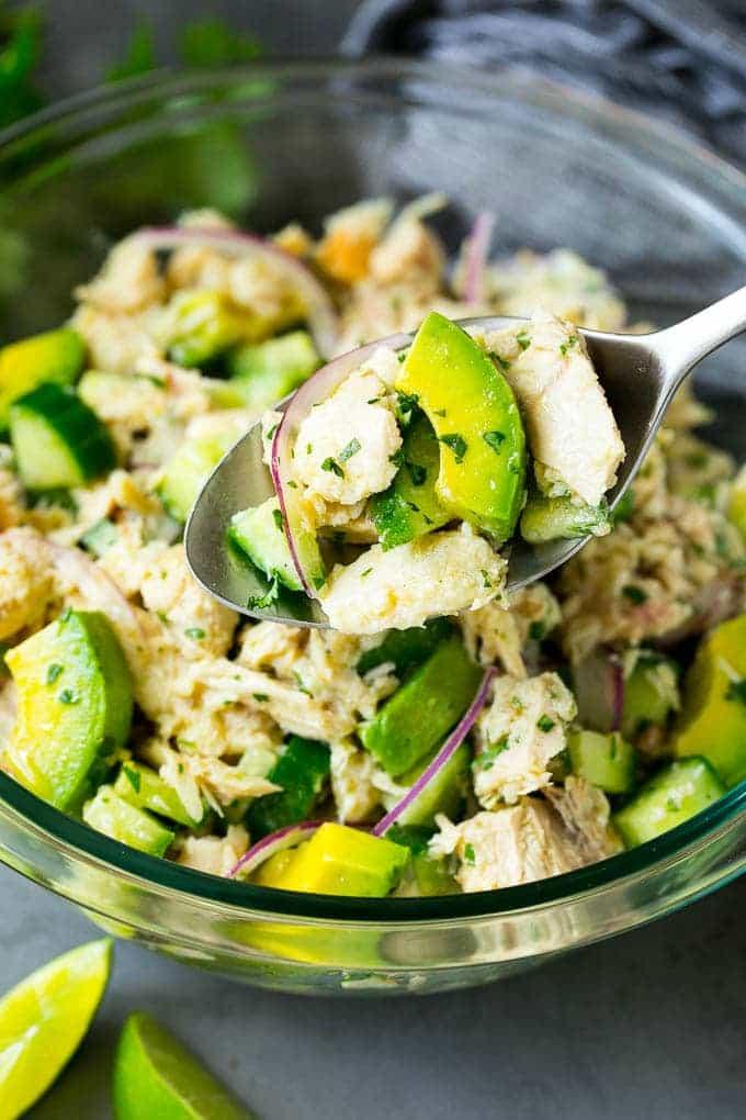 Сочный салат с авокадо